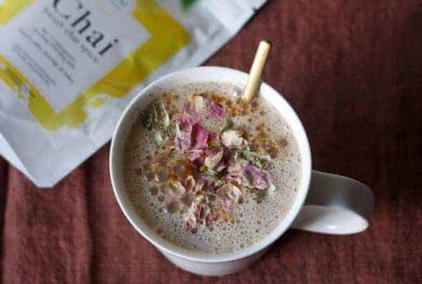 Chai by Mira with rosebuds